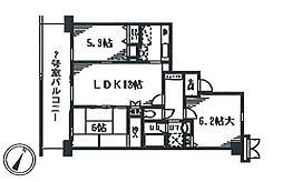 SalledeVerdure(セルデベルデュール)[3階]の間取り