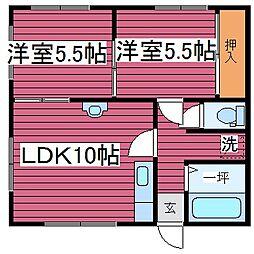 コーポ上田[101号室]の間取り