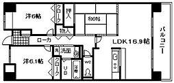 プリマード東岸和田[303号室]の間取り