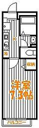 東京都足立区西竹の塚2丁目の賃貸アパートの間取り
