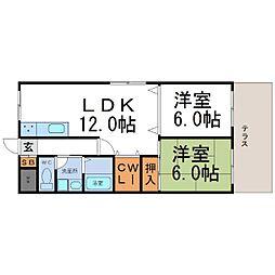 レジデンス塚口[2階]の間取り