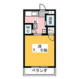 マンションひよこ[1階]の間取り