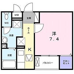 春日1丁目アパート[1階]の間取り
