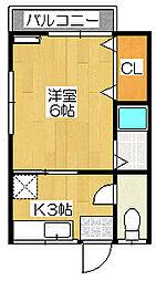 東荘[201号室]の間取り