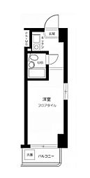 東京都練馬区南田中5丁目の賃貸マンションの間取り