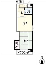 サンビーム藤成[2階]の間取り