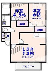 メゾンエクセル[105号室]の間取り