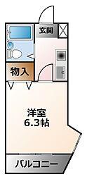 ジョイ甲子園[3階]の間取り