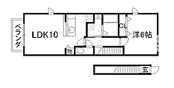 トールハーヴェストII[2階]の間取り