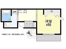 JR東海道・山陽本線 吹田駅 徒歩5分の賃貸マンション 2階1Kの間取り