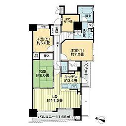 ライオンズマンション定禅寺通 2階3SLDKの間取り