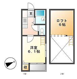 TKロイヤルコーポ[1階]の間取り