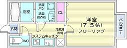 仙台市営南北線 八乙女駅 徒歩14分の賃貸アパート 2階1Kの間取り