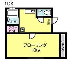 シナモンハウス[1階]の間取り