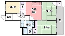 兵庫県西宮市甲子園口4丁目の賃貸マンションの間取り