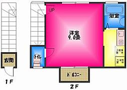 静岡県三島市中田町の賃貸アパートの間取り
