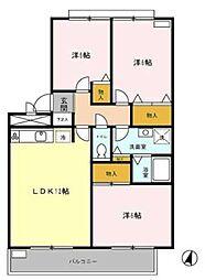 シェルコート[3階]の間取り