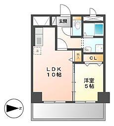 KIRAKUマンション[1階]の間取り