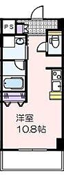 セントフィオーレ神宮 3階ワンルームの間取り