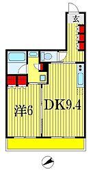 パークアクシス西船橋本郷町[6階]の間取り