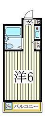 ジュネパレス柏第46[2階]の間取り