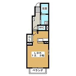 ルーエ プラッツ[1階]の間取り