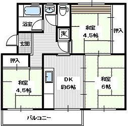 金剛第三住宅213棟[503 号室]の間取り