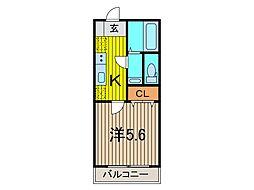リブリ・日華西川口[202号室]の間取り