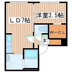 北海道札幌市東区北七条東8丁目の賃貸マンションの間取り