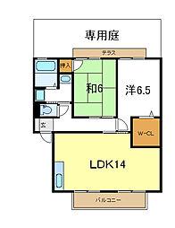 兵庫県加古川市別府町別府の賃貸アパートの間取り