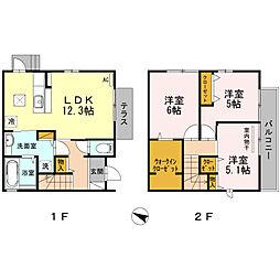 福岡県福岡市南区和田1丁目の賃貸アパートの間取り