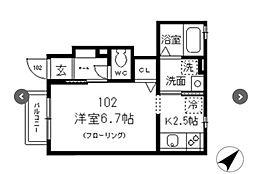 東京都豊島区巣鴨4丁目の賃貸アパートの間取り
