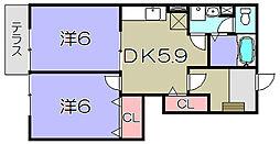 サンパティーク メゾン[1階]の間取り