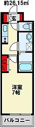 カルフール千防[3階]の間取り