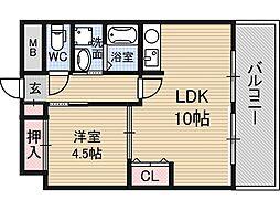 サムティ新大阪WEST[2階]の間取り
