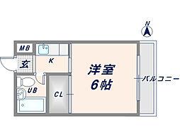 エルバハイツ[3階]の間取り