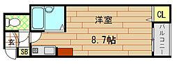 CTビュー小阪[210号室]の間取り