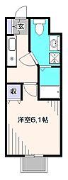 東京都東久留米市下里2丁目の賃貸マンションの間取り