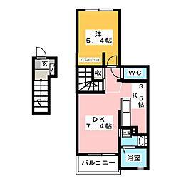 クレイドルIII[2階]の間取り