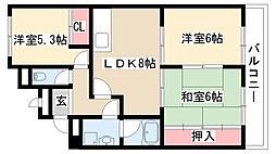 愛知県名古屋市緑区鳴海町字有松裏の賃貸マンションの間取り
