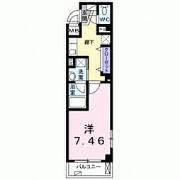 神奈川県横浜市西区岡野2の賃貸マンションの間取り