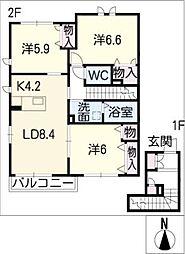 MI・CASA I棟[2階]の間取り