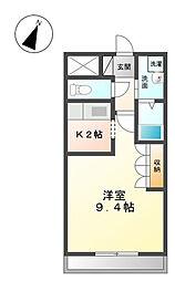 埼玉県さいたま市岩槻区加倉5丁目の賃貸アパートの間取り