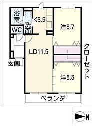 グランMOA[2階]の間取り