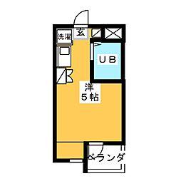 SUN YAMAMOTO[4階]の間取り
