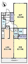 サラフィード[5階]の間取り