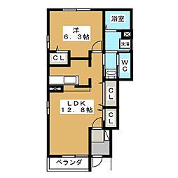 アマービレA・B[1階]の間取り