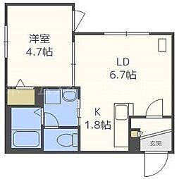 仮)東札幌1・6B[4階]の間取り