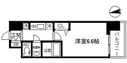 アドバンス大阪ブリアント 6階1Kの間取り