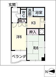 MK 平安[10階]の間取り